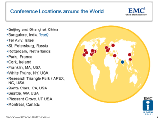 EMC Innovation Conference Worldwide Locations