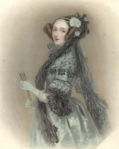 Ada Lovelace, courtesy of https://www.statemaster.com/encyclopedia/Ada-Lovelace